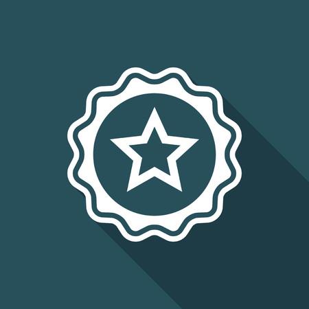Rating star - Vector flat minimal icon