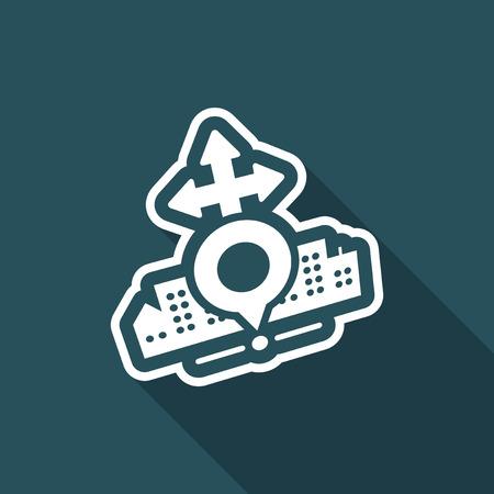 City map icon Illustration