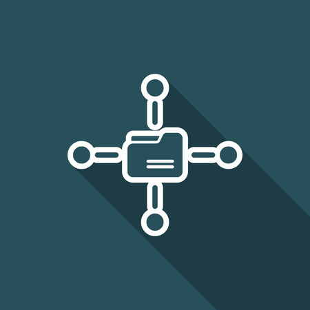 Shared folder vector icon
