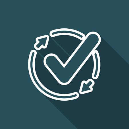 Chep updates - Flat minimal icon Illustration