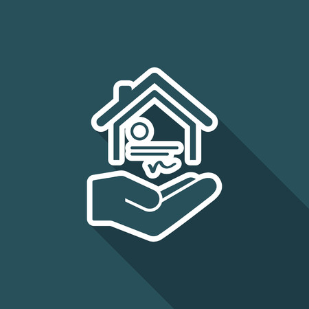 House certification services - Vector icon Illustration