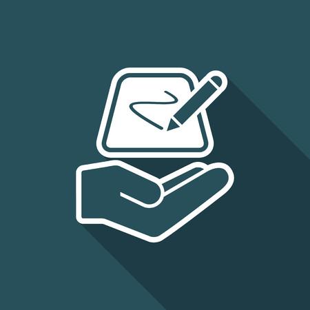 designate: Designer tablet - Minimal vector icon