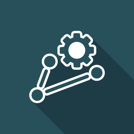 Working network icon concept Illustration