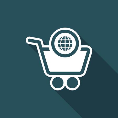 internationally: International shopping flat icon