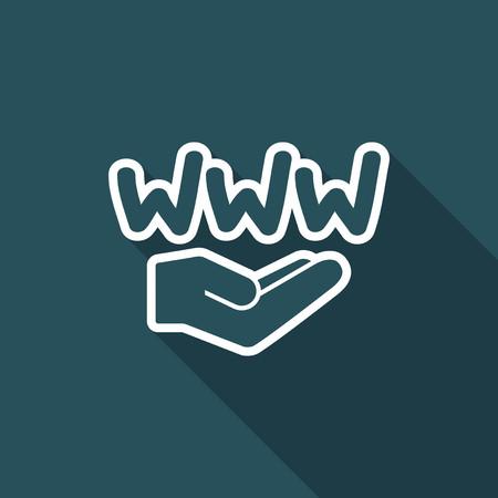 domains: Web service - Minimal vector icon Illustration