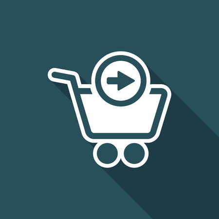 skip: Forward web shop icon