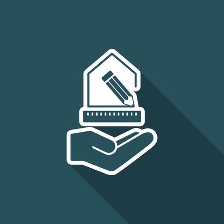 Home project - Interior design service - Vector flat icon