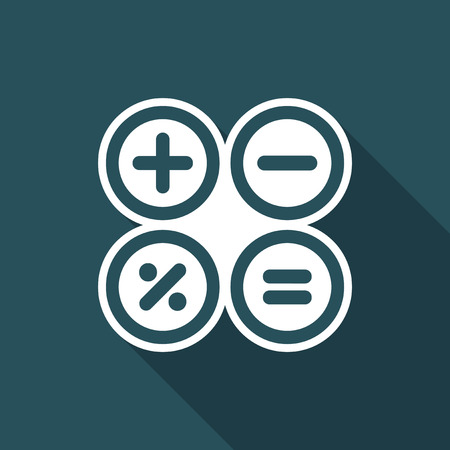 Calculator application flat icon Illustration