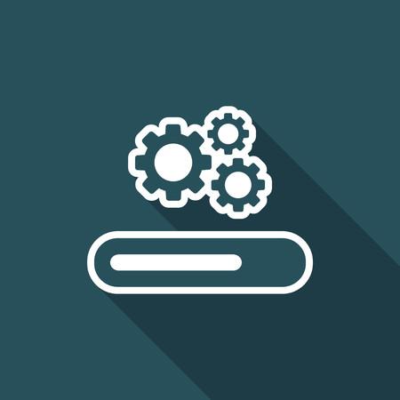 Progression process bar icon