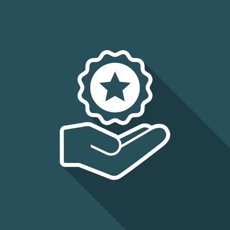Service offer - Luxury - Minimal icon Illustration