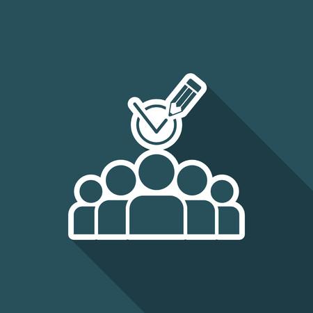 Team recruitment - Minimal vector icon