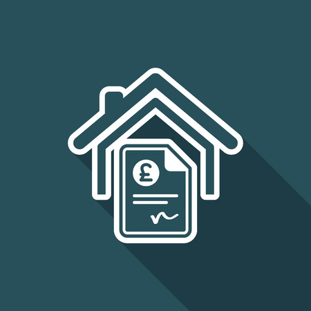Home cost icon - Sterling Illustration