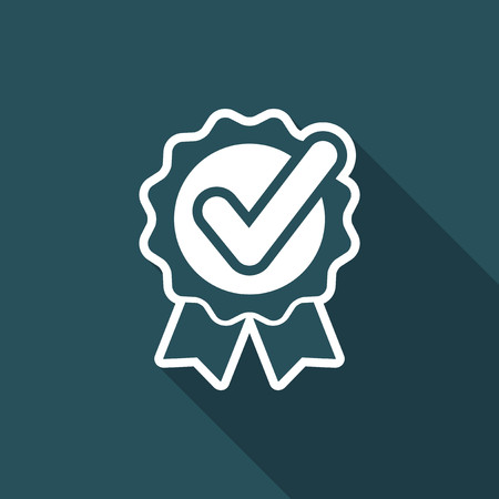 Checking quality symbol icon Illustration