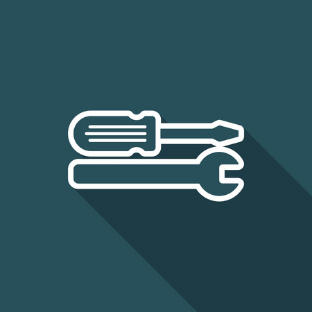 Technical assistance - Vector flat icon