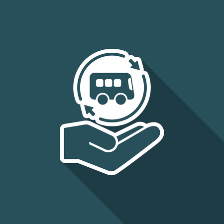 proposed: Bus services - Minimal modern icon Illustration