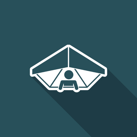 deltaplane: Hang glider concept - Minimal vector icon Illustration