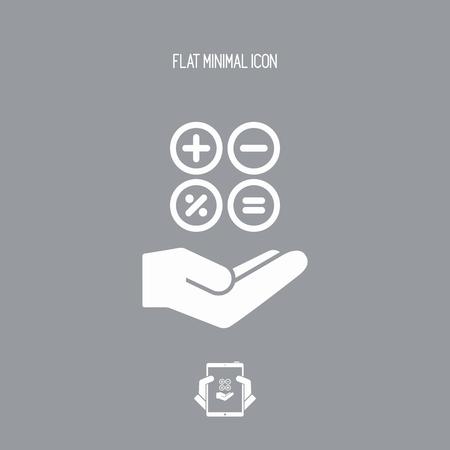 Computations services - Minimal modern icon
