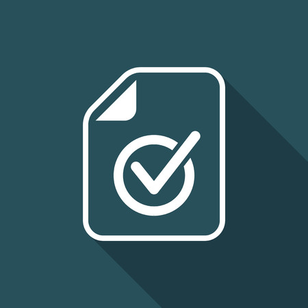 attested: Checked document - Minimal vector icon