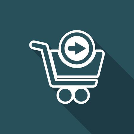 go to store: Next - web shop icon Illustration
