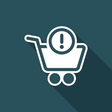 Shopping alert notice icon Illustration