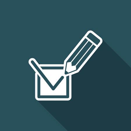 Election voting mark icon