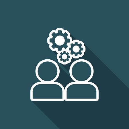teamwork: Teamwork brainstorming flat icon Illustration