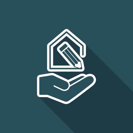 House project design- Minimal modern icon