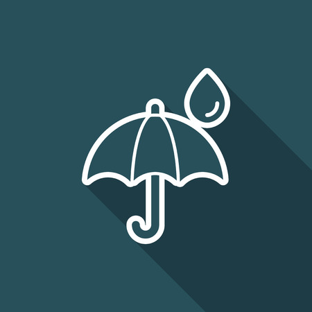 Umbrella - Minimal vector icon Illustration