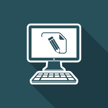 customized: Customized document project - Vector flat icon