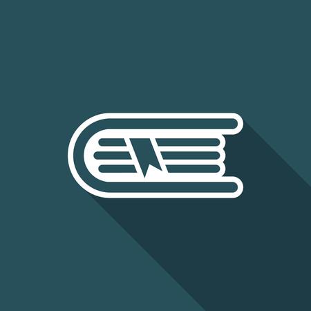 Book icon - Minimal vector icon
