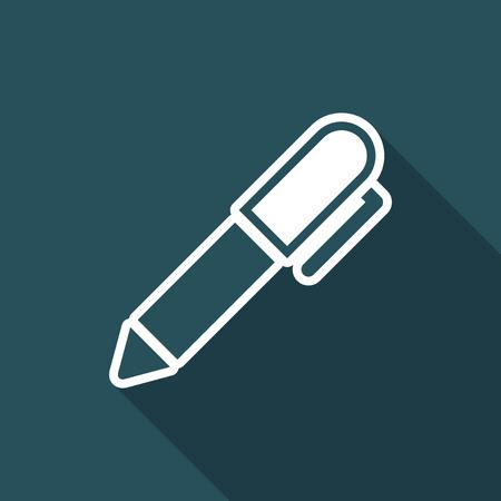 tailored: Pen - Flat vector icon