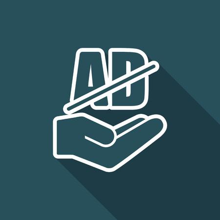 hinder: Service offer - Advertising block - Minimal icon