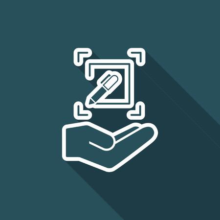 Customized design services - Flat minimal vector icon