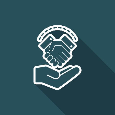 Agreement proposal - Minimal icon Illustration