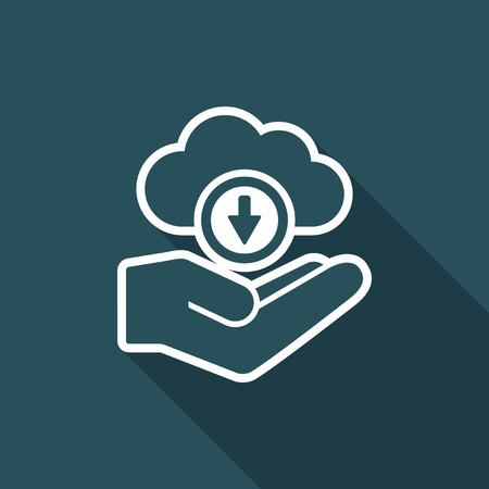 storage device: Cloud computing - Minimal vector icon Illustration