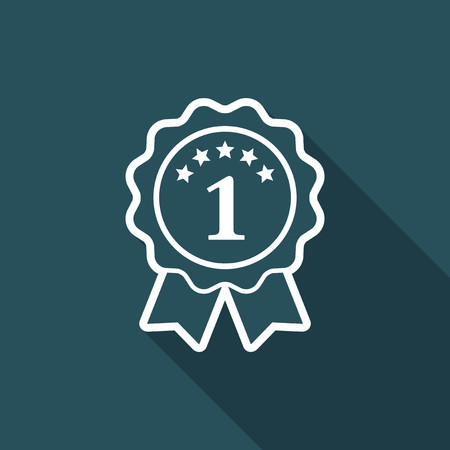 1 year warranty: Number one symbol icon