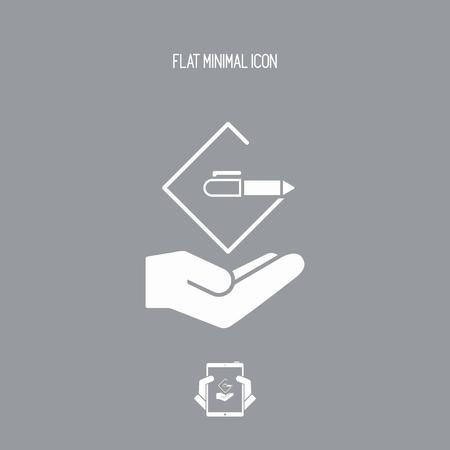 Project design concept - Flat minimal icon Illustration