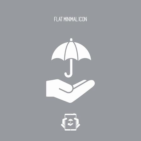 Protection service - Minimal vector icon Vektorové ilustrace