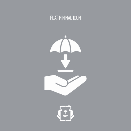Protected download - Minimal vector icon