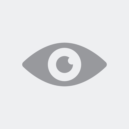 Eye in the foreground as a symbol of medical services or security and defense control Illustration