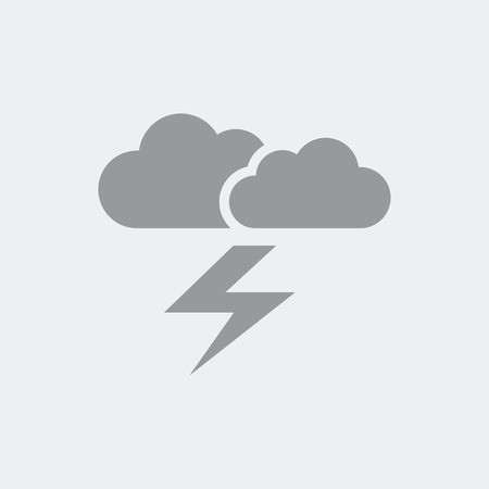 Illustration that depicting clouds and lightning as a symbol of the concept of weather forecasts or problematic events Illustration
