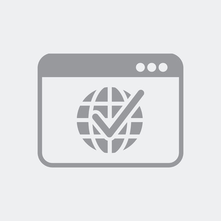 Flat and isolated vector illustration icon with minimal and modern design Illustration