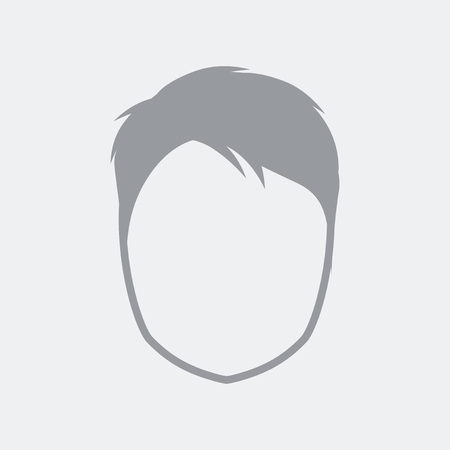 Generic and anonymous avatar, conceptual illustration of face with detailed hair