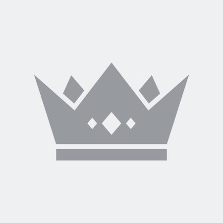 Royal crown icon, symbol of authority or premium exclusive services.
