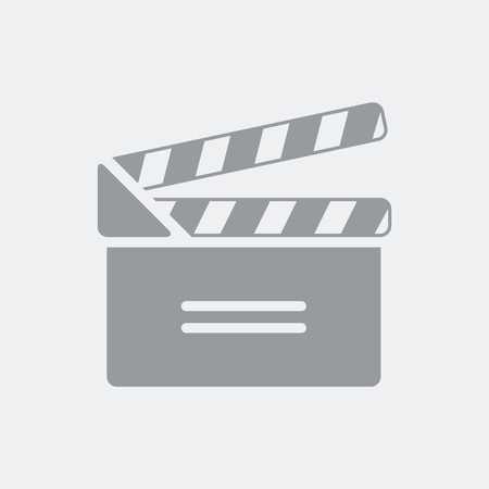 Ciak or clapboard concept icon for website button or application