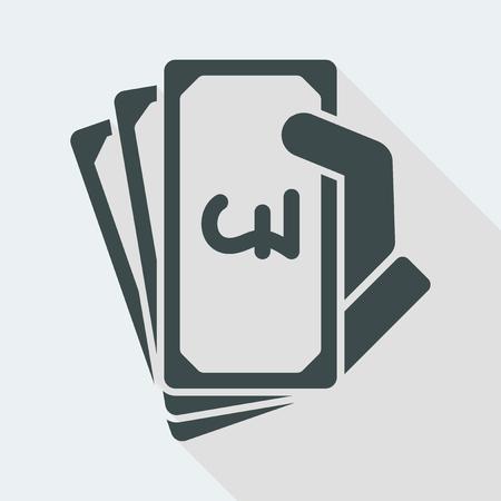 Icône d'illustration vectorielle plate et isolée avec un design moderne minimal et une longue ombre