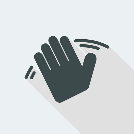 hand Flat and isolated vector illustration icon with minimal modern design and long shadow 向量圖像