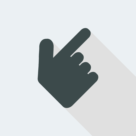 hand lat and isolated vector illustration icon with minimal modern design and long shadow Ilustração