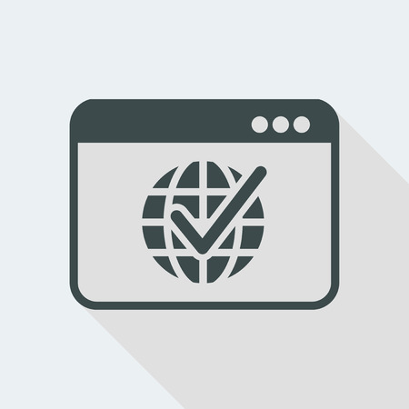 Flat and isolated vector illustration icon with minimal modern design and long shadow