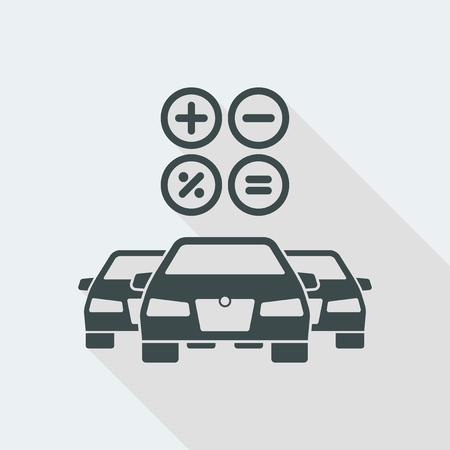 Icona di illustrazione vettoriale piatta e isolata con un design moderno minimale e lunga ombra